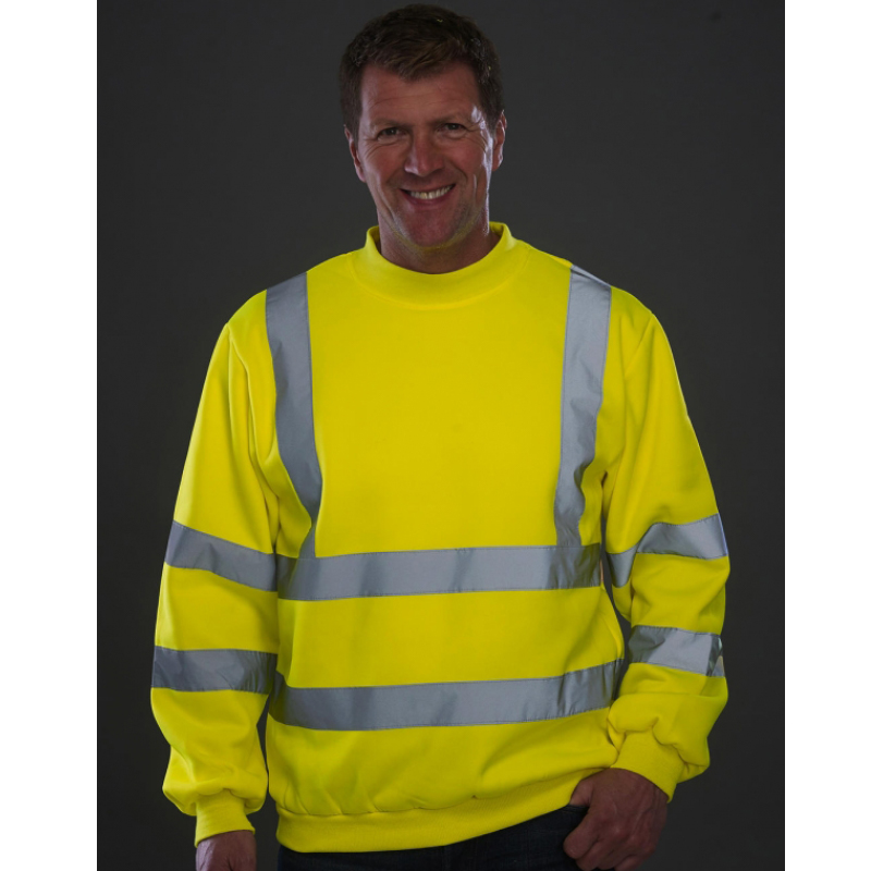 sweater fluo geel