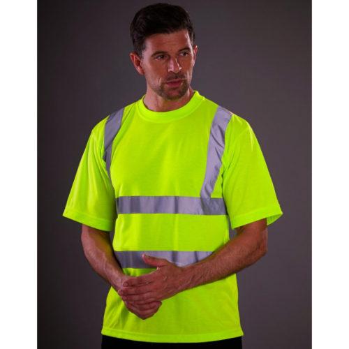 t-shirt fluo geel signalisatie